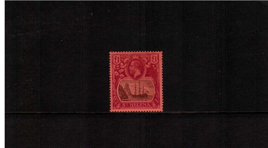 �Grey and Purple on Red superb unmounted mint single. Scare stamp!