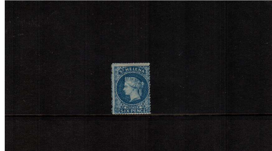 6d Blue with Rough Perforation 14-16. A good lightly mounted mint stamp with full gum and usual centering.