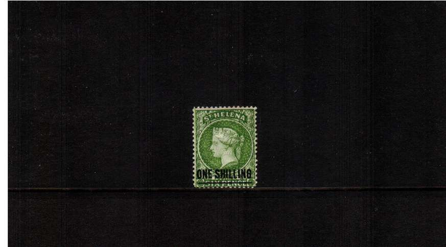 1/- Yellow-Green. A very fine and fresh very lightly mounted mint stamp. Lovely!