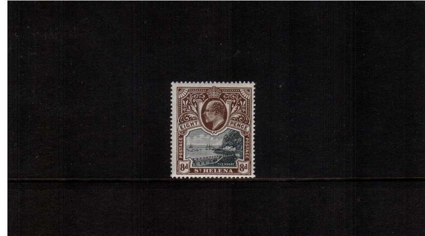 8d Black and Brown. A very fine fresh stamp with just a trace of a hinge.