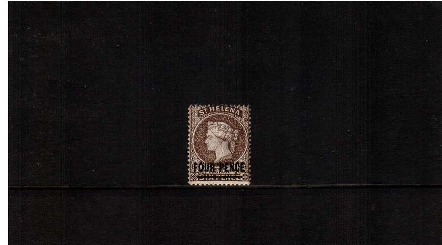 4d Pale Brown (light shade). A fine lightly mounted mint stamp.