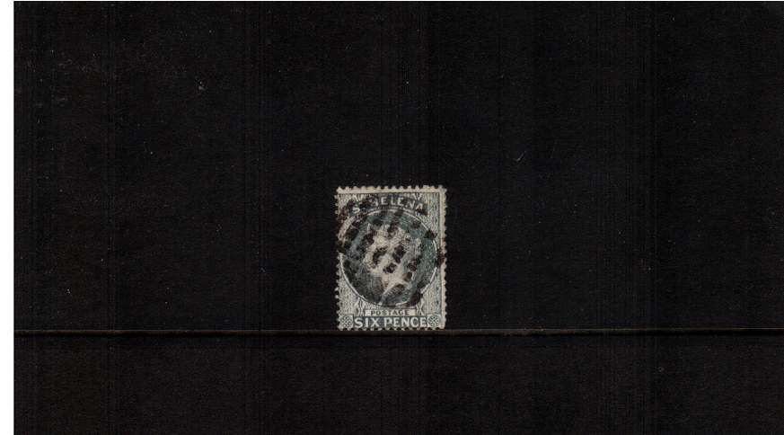 6d Grey. A good used stamp showing almost no watermark just the marginal watermark bars.