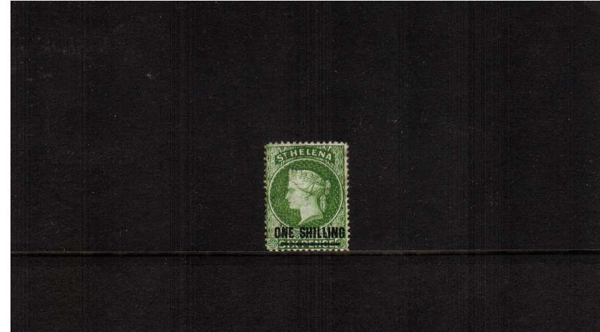 1/- Yellow-Green. a good mounted mint stamp. 