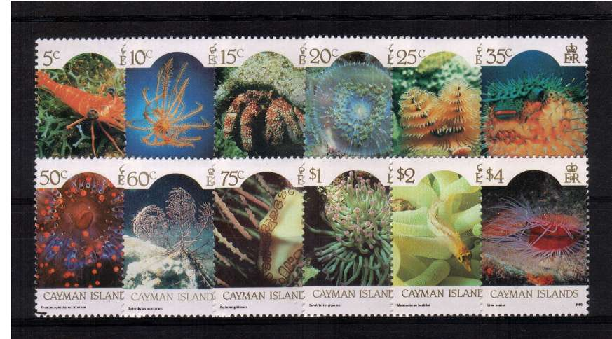 Marine Life set of twelve with 1986 imprint date superb unmounted mint.