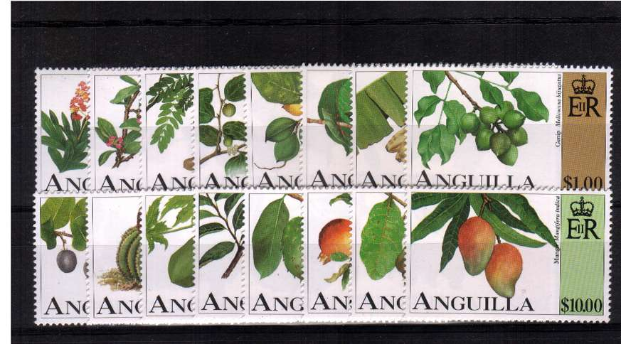Fruits set of sixteen superb unmounted mint