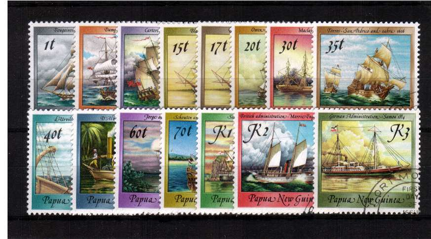 Ships - A superb fine used set of fifteen.