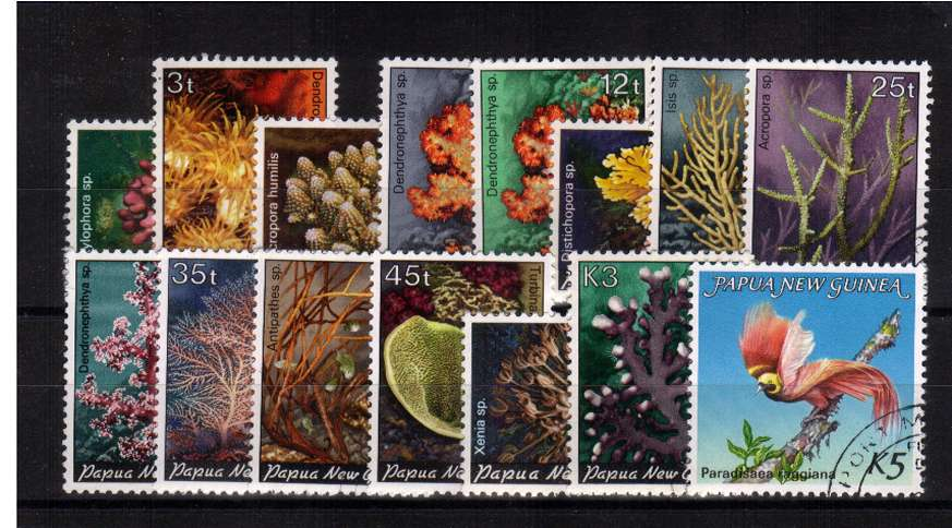 Corals set of fifteen superb fine used.
