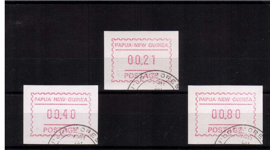 The second set of FRAMA labels superb fine used issued 8 FEBRUARY 1991