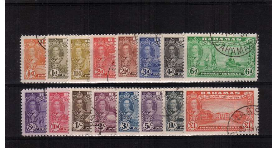 Tercentenary of Settlement of Island of Eleuthera<br/>A superb fine used set of sixteen.<br/><b>ZKT</b>