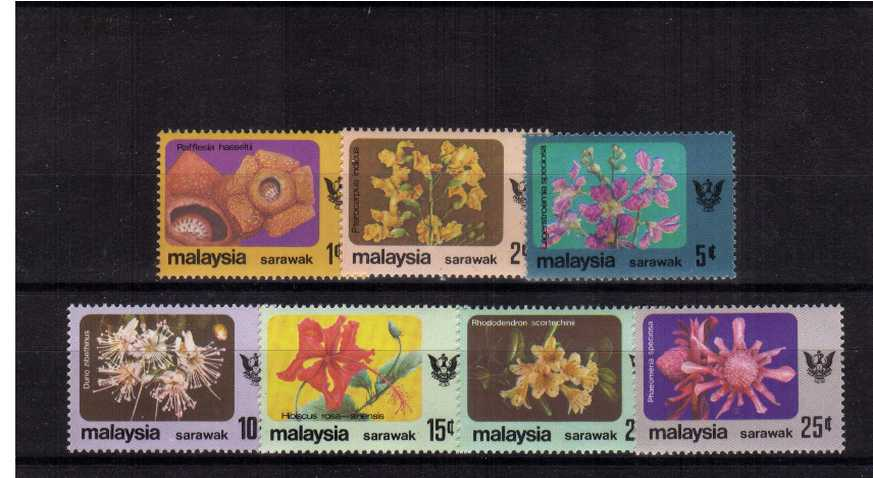 Flowers definitive set of seven superb unmounted mint.