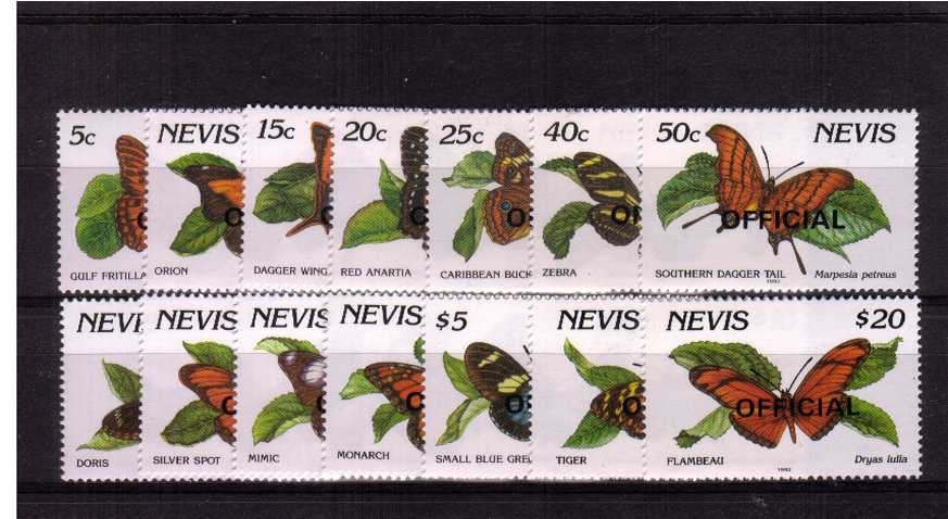 Butterflies - Officials set of fourteen superb unmounted mint.