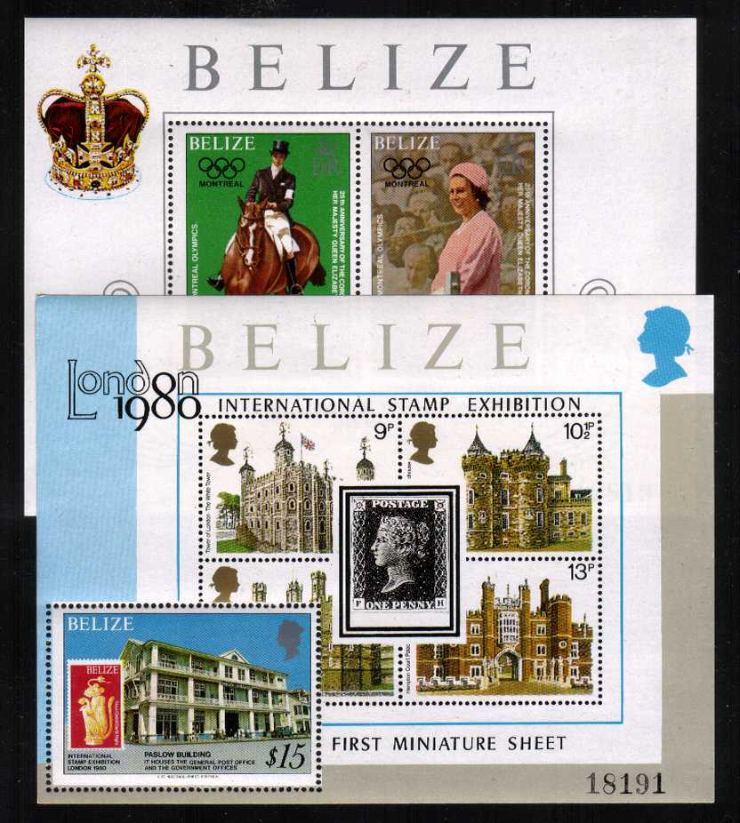 25th Anniversary of the Coronation set of two minisheets superb unmounted mint.