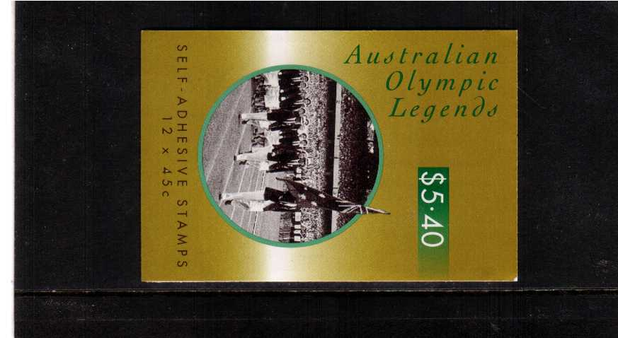 $5.40 Australian Olympic Legends complete booklet