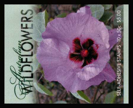 $5.00 Australian Wildflowers complete unfolded flat booklet