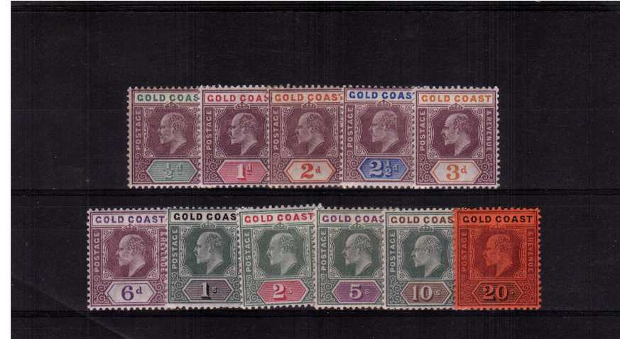 A fine lightly mounted mint set of eleven.