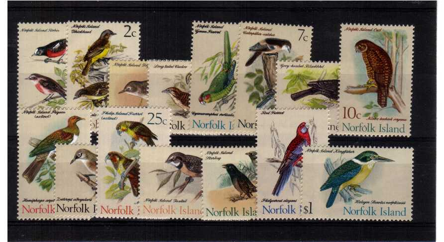 Birds - A superb unmounted mint set of fifteen.