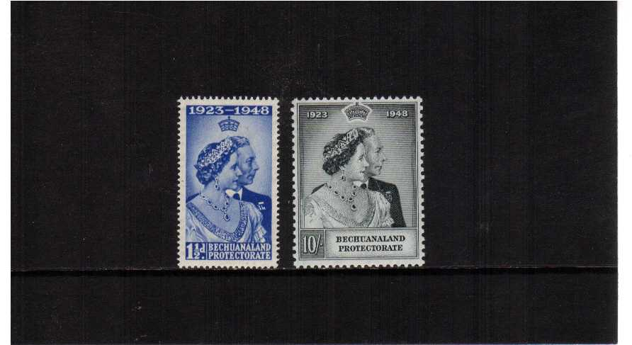 The 1948 Royal Silver Wedding set of two superb unmounted mint.<br/><b>SEARCH CODE: 1948RSW</b><br/><b>XYX</b>