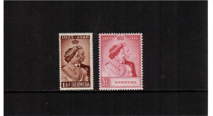 The 1948 Royal Silver Wedding set of two superb unmounted mint.<br/><b>SEARCH CODE: 1948RSW</b><br/><b>ZKB</b>