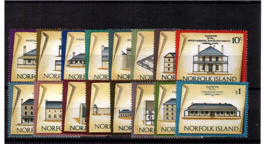 Historic Buildings - A superb unmounted mint set of sixteen