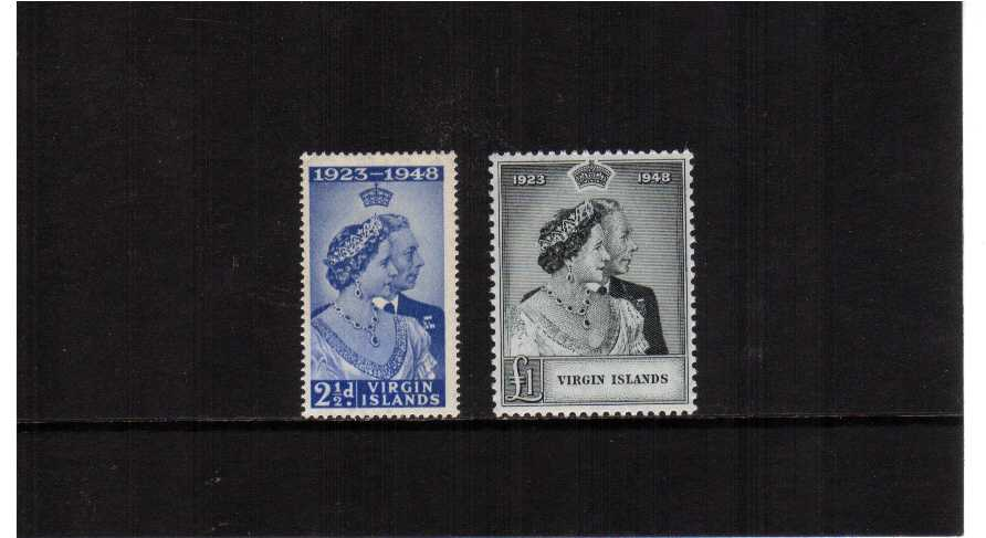 The 1948 Royal Silver Wedding set of two superb unmounted mint.<br/><b>SEARCH CODE: 1948RSW</b><br><b>UDX</b>