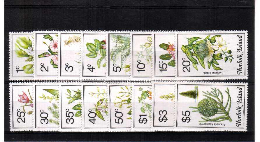 Superb unmounted mint set of sixteen.