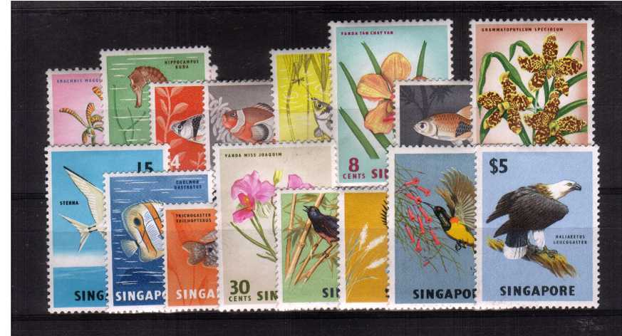 A fine  lightly mounted mint set of sixteen.<br/><b>XAX</b>