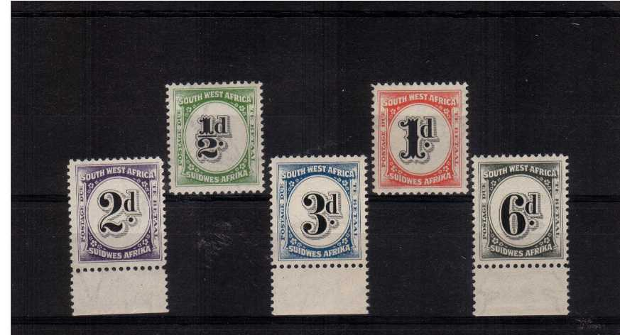 The billingually inscribed Postage Due set of five superb unmounted mint.