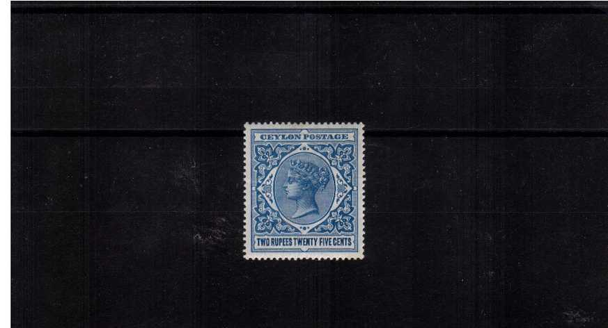 The 2r25 Dull Blue. A very fine bright and fresh lightly mounted mint stamp. Superb! 