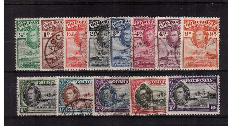 A superb fine used set of thirteen.