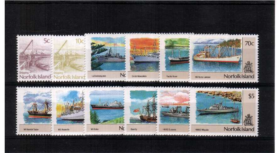 Ships - A superb unmounted mint set of twelve.<br/><b>ZQD</b>