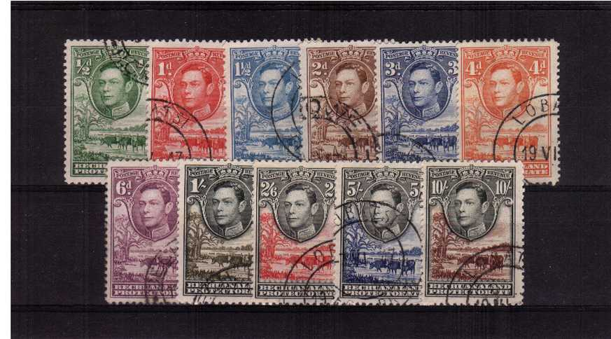 A lovely superb fine used set of eleven all with matched cancels.