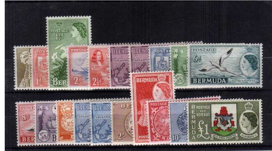 A superb unmounted mint set of eighteen with the benefit of the extra 3d and 1/3d values.