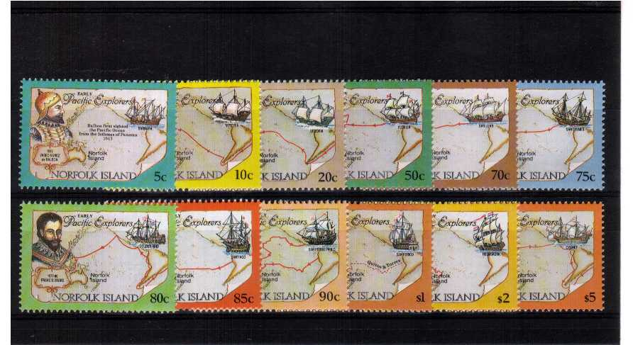 Explorers and Maps - A superb unmounted mint set of twelve.<br/><b>UEU</b>