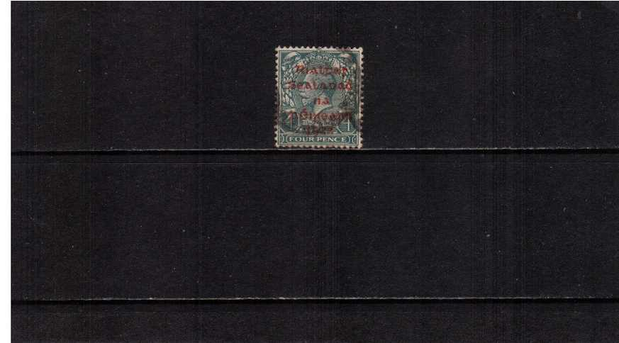 4d Grey-Green with the ''DOLLARD'' overprint in CARMINE superb fine used