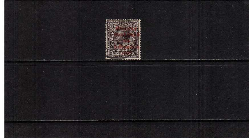 9d Agate with the ''DOLLARD'' overprint in CARMINE superb fine used.