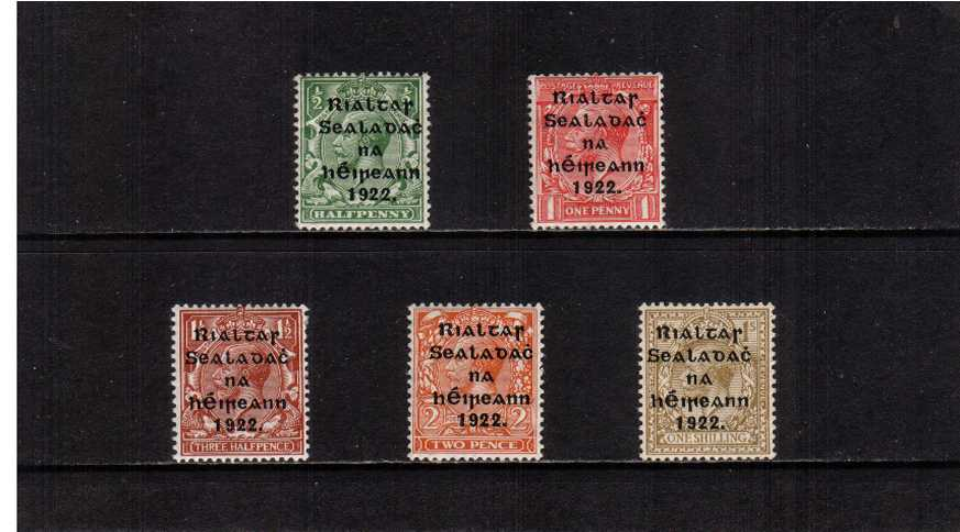 THOM wide date overprint in shiny blue-black set of five superb unmounted mint.<br/><b>ZDZ</b>