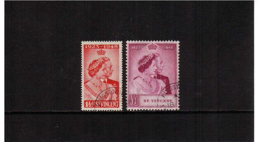 The 1948 Royal Silver Wedding set of two superb fine used.<br/><b>SEARCH CODE: 1948RSW</b><br><b>ZKU</b>