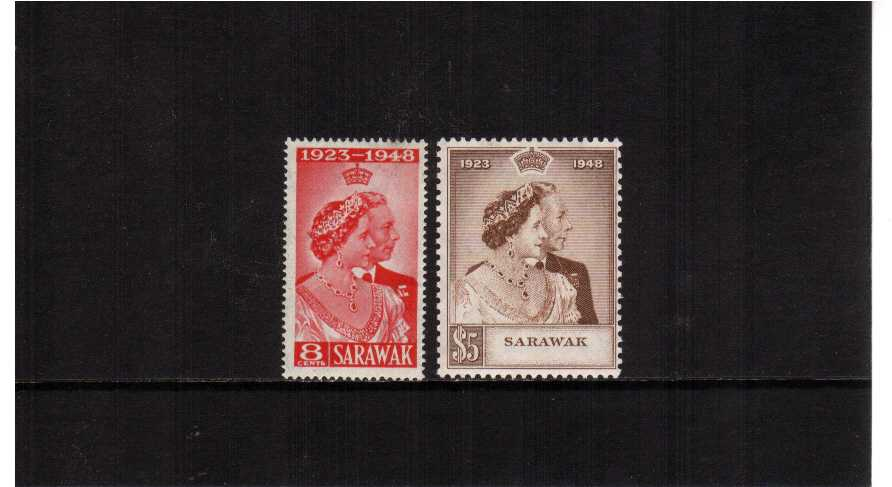 the 1948 Royal Silver Wedding set of two superb unmounted mint.<br/><b>SEARCH CODE: 1948RSW</b><br><b>QNQ</b>