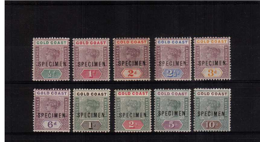 A fresh lightly mounted mint ''SPECIMEN'' set of ten.