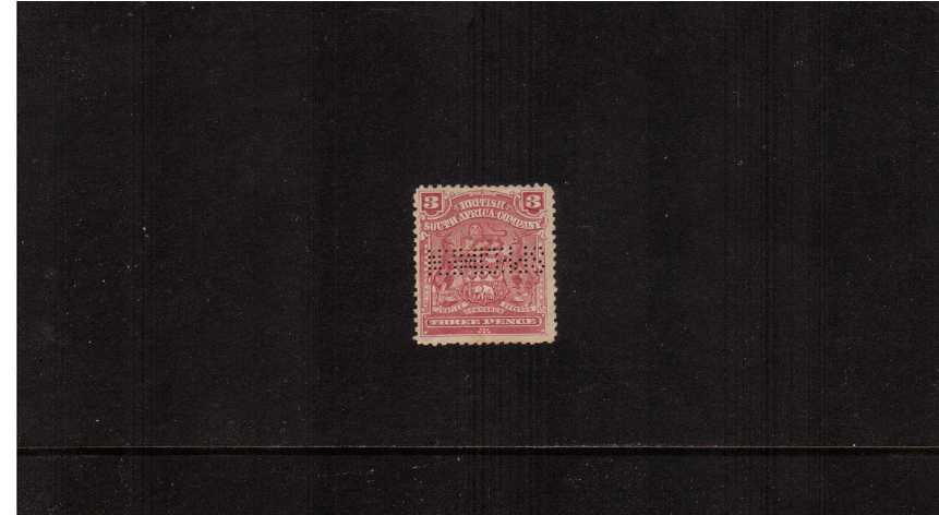 3d Claret - An unused single perfined ''SPECIMEN''