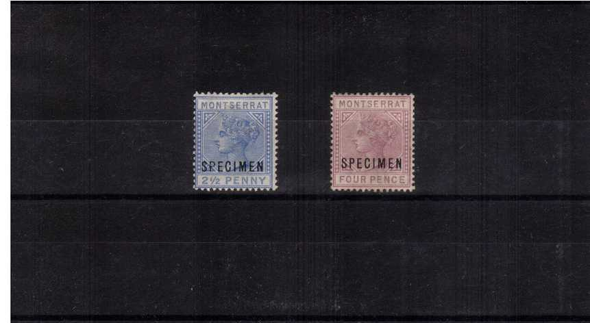 A good mounted mint set of two overprint ''SPECIMEN''.<br/>ex Marcus Samuel collection. SG Catalogue £475.00