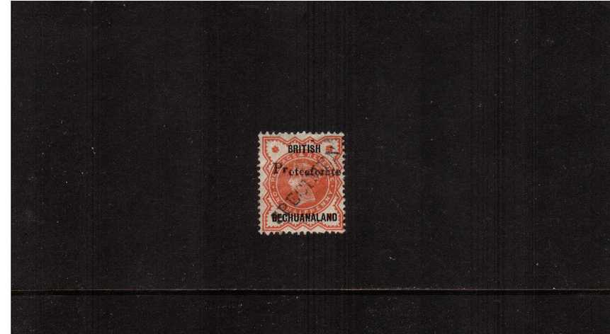 ½d Great Britain Vermilion overprinted BRITISH BECHUANALAND and PROTECTORATE then diagonally handstamped ''SPECIMEN'' good mounted mint.