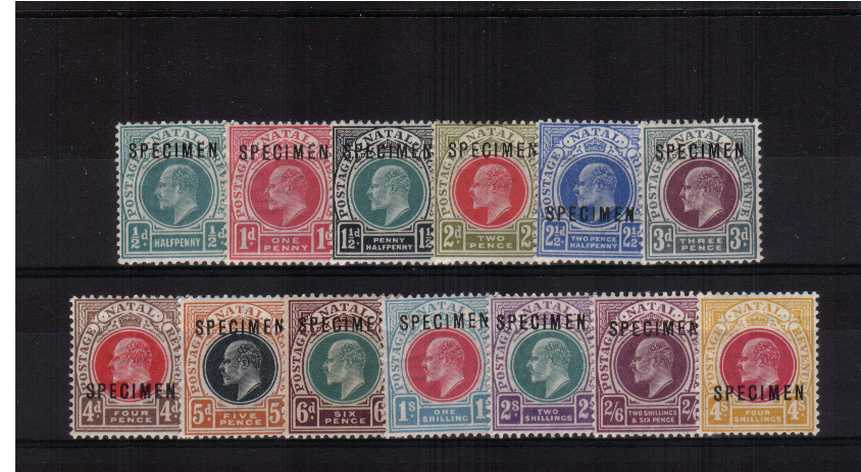 A fine lightly mounted mint ''SPECIMEN'' set of thirteen. SG Catalogue �0.00 