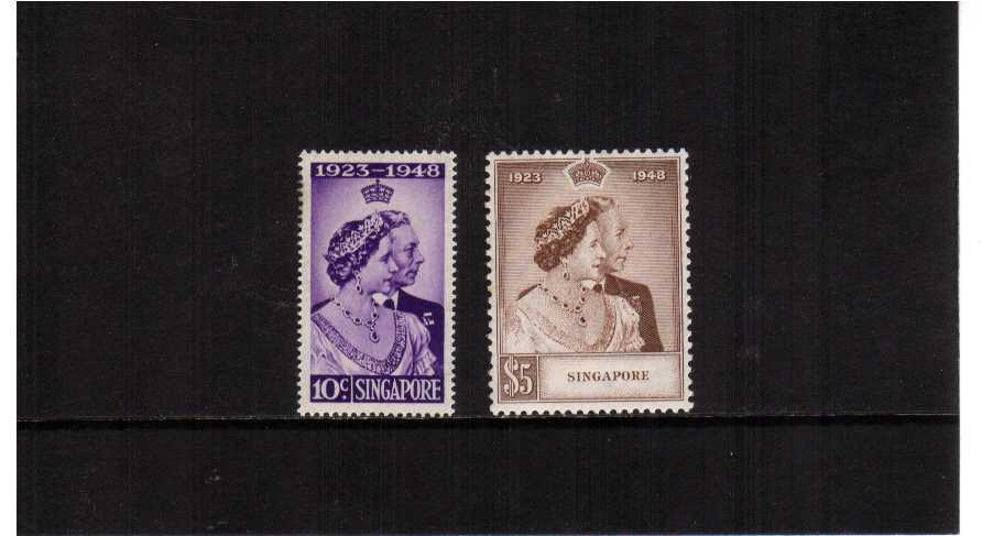 the 1948 Royal Silver Wedding set of two superb unmounted mint.<br/><b>SEARCH CODE: 1948RSW</b>