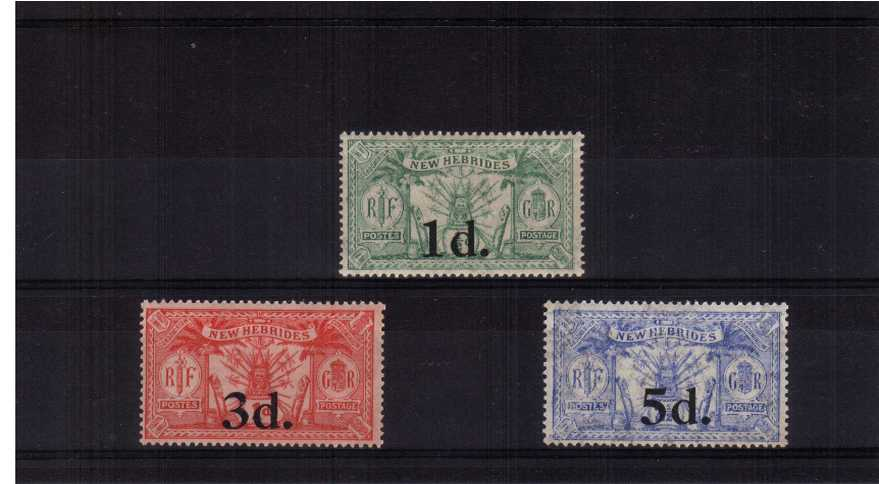 A superb unmounted mint set of three. Scarce set unmounted mint!<br/><b>ZKB</b>
