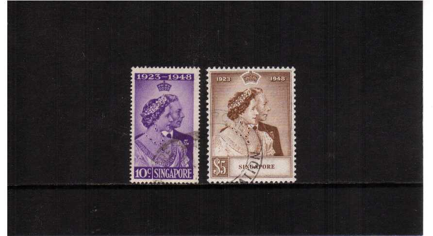 the 1948 Royal Silver Wedding set of two superb fine used.<br/><b>SEARCH CODE: 1948RSW</b>