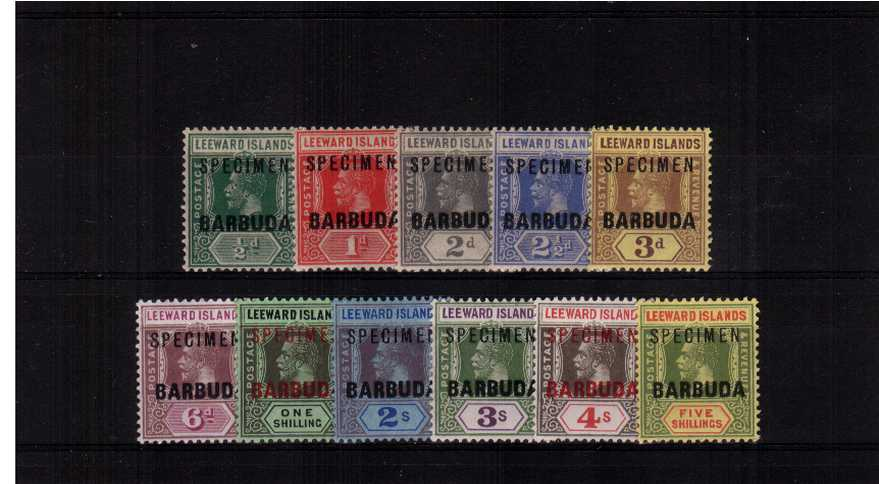 The complete set of eleven values overprinted SPECIMEN lightly mounted mint. A fine set!