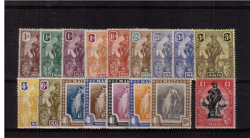 A fine lightly mounted mint set of seventeen with several being unmounted.