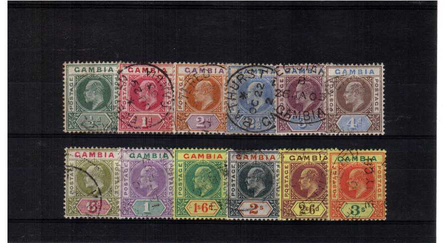 superb fine used, mostly circular date stamp set of 12. stunning!