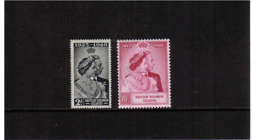The 1948 Royal Silver Wedding set of two superb unmounted mint.<br/><b>SEARCH CODE: 1948RSW</b><br/><b>UAU</b>